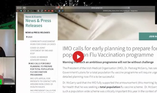 EVERYTHING YOU NEED TO KNOW ABOUT VIRUSES, VACCINES, MASKS, ETC ETC ETC…GRANDSTREAM: PROF DOLORES CAHILL AND FIONA MARIE FLANAGAN
