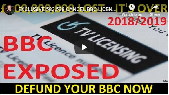 EXCLUSIVE 583,538 CANCEL BBC LICENCE Fee £300,000,000 Now Lost PA OFFICIAL FOI – Defund BBC NOW