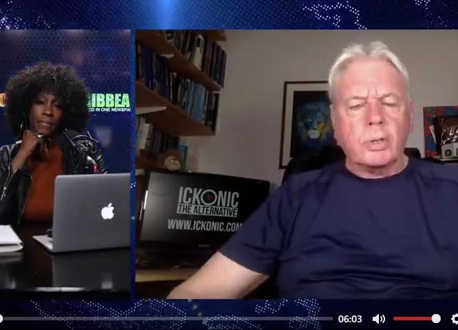 DAVID ICKE TALKS TO TORONTO CARIBBEAN ABOUT THE POLITICAL 'WHISTLEBLOWER' EMAIL