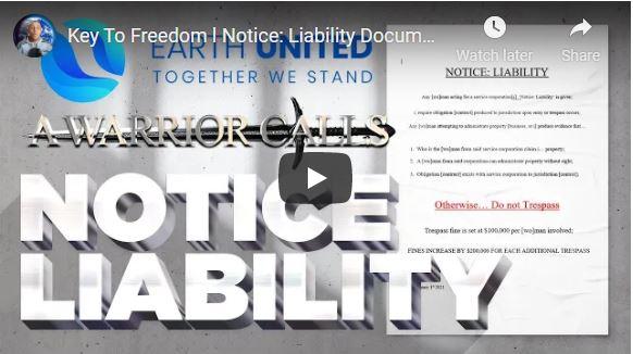KEY TO FREEDOM L NOTICE: LIABILITY DOCUMENT