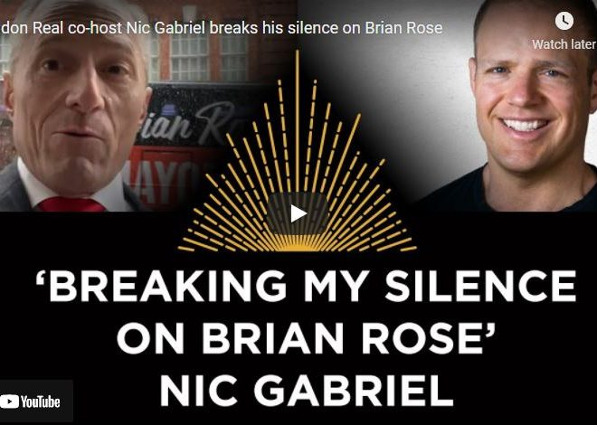 London Real co-host Nic Gabriel breaks his silence on Brian Rose