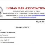 Indian Legal Notice to WHO re: Ivermectin
