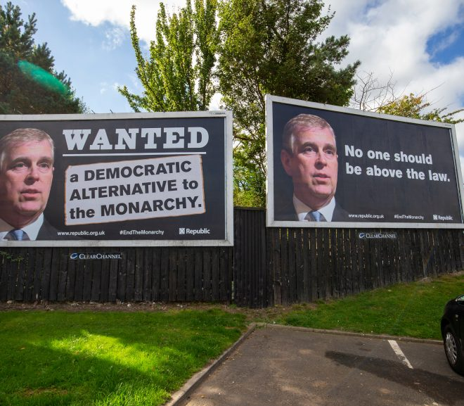 Prince Andrew billboards saying 'no one should be above the law' appear in Edinburgh