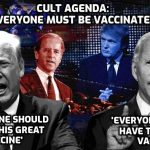 Trump talks the same lies and bollocks as Biden about the 'Covid' vaccine – it's a one-party state run by the Cult for which everyone being vaccinated worldwide is a foundation of its horrific agenda for humanity. Anyone who thinks Trump is a 'saviour' should watch this
