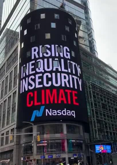 RESET campaign launch on NASDAQ screen in Times Square, NYC
