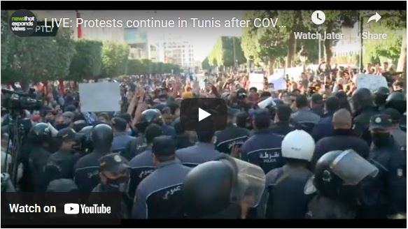 Protests continue in Tunis after COVID-19 lockdown stirs unrest