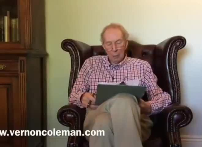 DR. VERNON COLEMAN DESTROYS THE WHOLE CORONAVIRUS NONSENSE IN UNDER THREE MINUTES