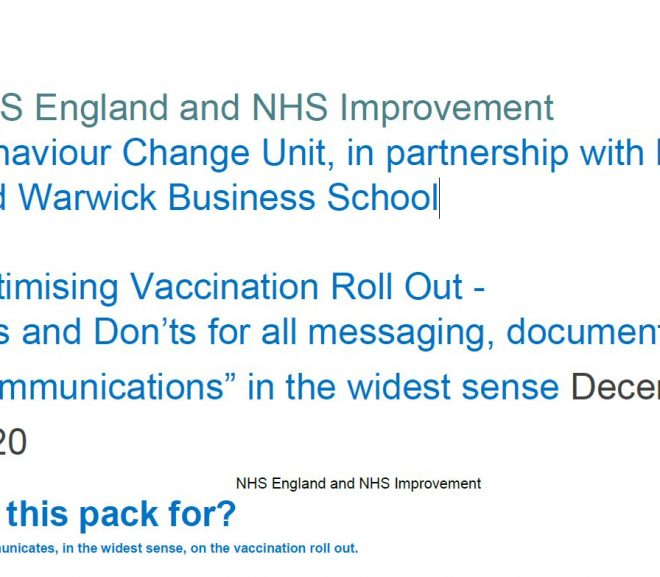BREAKING NEWS! Leaked Document: NHS Brainwashig Strategy to increase vax uptake. This explains it all! Doc exerts below and link. Please share across all social media.