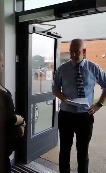 Cease and Desist Notice being served at a school.