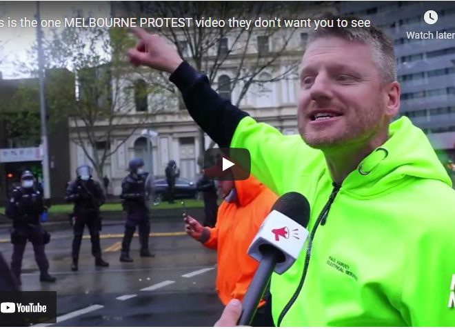 This is the one MELBOURNE PROTEST video they don't want you to see
