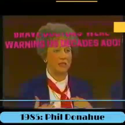 1985 Warning about the risks of vaccinating.