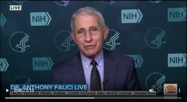 Video Showing the Shifting Narrative in Vaccine Efficacy